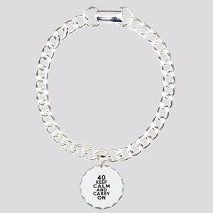 40 Keep Calm And Carry O Charm Bracelet, One Charm