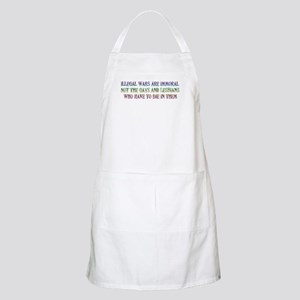 War not Gays Immoral BBQ Apron