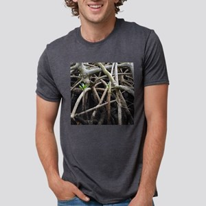 Mangrove roots one seedling Mens Tri-blend T-Shirt