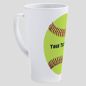 Customize Softball Name 17 oz Latte Mug