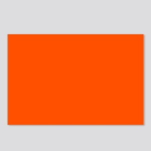 Neon Orange Solid Color Postcards (Package of 8)