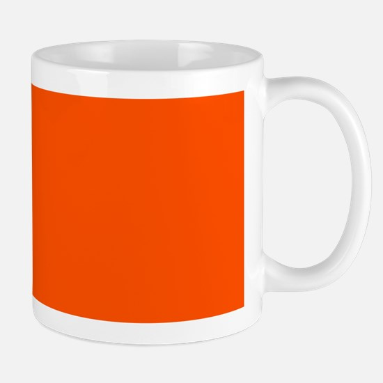 Neon Orange Solid Color Mugs