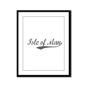Isle of Man flanger Framed Panel Print
