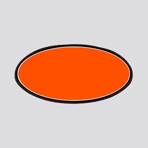 Neon Orange Solid Color Patch