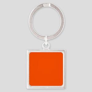 Neon Orange Solid Color Keychains