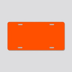 Neon Orange Solid Color Aluminum License Plate