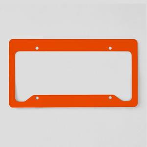 Neon Orange Solid Color License Plate Holder