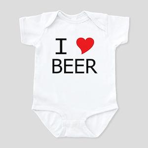 I Heart Beer Infant Bodysuit