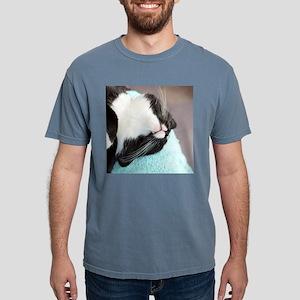 sleeping tuxedo cat Mens Comfort Colors Shirt