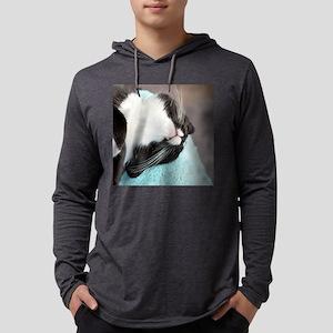 sleeping tuxedo cat Mens Hooded Shirt