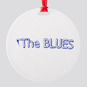 THE BLUES Round Ornament