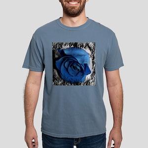 blue rose faded border pretty flower plant Mens Co