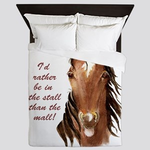 Rather be in the Stall than the Mall F Queen Duvet
