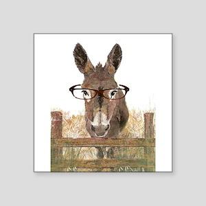 Humorous Smart Ass Donkey Painting Sticker