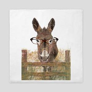 Humorous Smart Ass Donkey Painting Queen Duvet