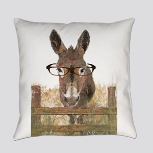 Humorous Smart Ass Donkey Painting Everyday Pillow