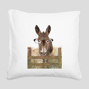 Humorous Smart Ass Donkey Pai Square Canvas Pillow