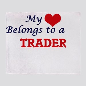 My heart belongs to a Trader Throw Blanket