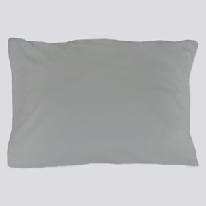 Heather Gray Solid Color Pillow Case