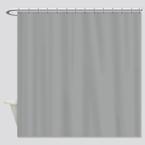 Heather Gray Solid Color Shower Curtain