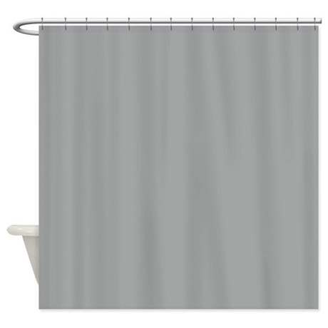 Heather Gray Solid Color Shower Curtain By Admin CP133666635