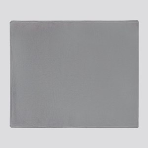Heather Gray Solid Color Throw Blanket