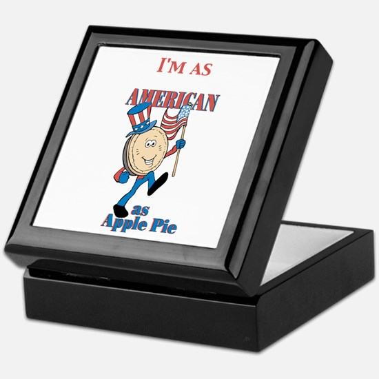I'm As American As Apple Pie Keepsake Box