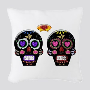 Sugar Skulls Woven Throw Pillow