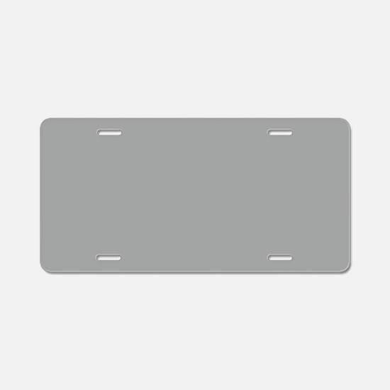 Heather Gray Solid Color Aluminum License Plate