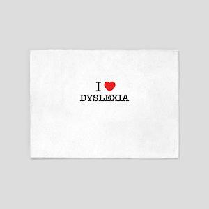 I Love DYSLEXIA 5'x7'Area Rug