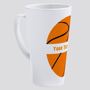 Basketball Personalized 17 oz Latte Mug