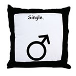 Male Single Sex Symbol Throw Pillow