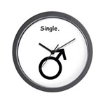 Male Single Sex Symbol Wall Clock