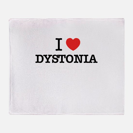 I Love DYSTONIA Throw Blanket