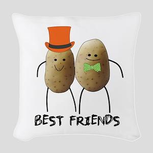 best friend potato Woven Throw Pillow