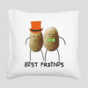 best friend potato Square Canvas Pillow