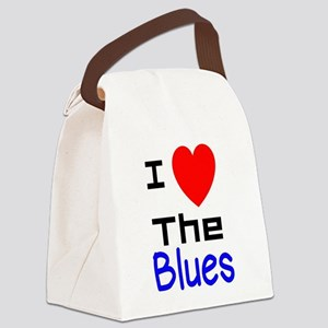 I LOVE The Blues Canvas Lunch Bag
