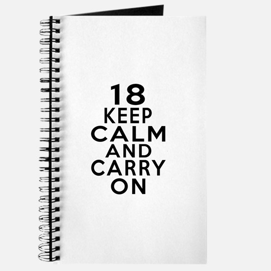 18 Keep Calm And Carry On Birthday Journal