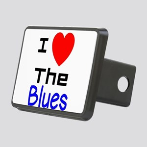 I LOVE The Blues Rectangular Hitch Cover