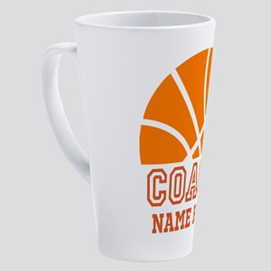 Basketball Coach Name 17 oz Latte Mug