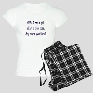 Iamthebassplayer10c10png Women's Light Pajamas
