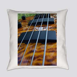 Four String Tiger Eye bass Everyday Pillow