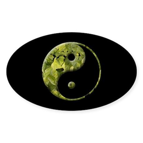 YIN AND YANG Oval Sticker
