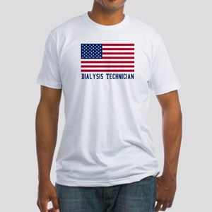 Ameircan Dialysis Technician Fitted T-Shirt