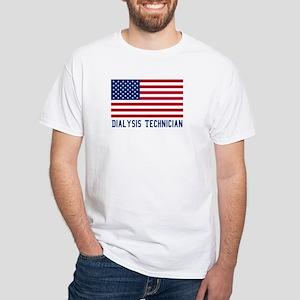 Ameircan Dialysis Technician White T-Shirt