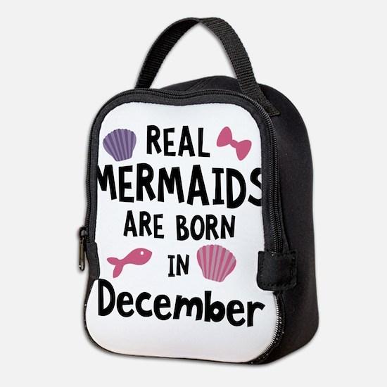 Mermaids are born in February C Neoprene Lunch Bag