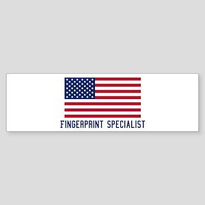Ameircan Fingerprint Speciali Bumper Sticker