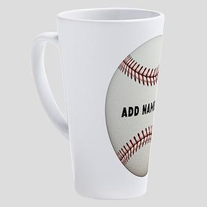 Customize Baseball Name 17 oz Latte Mug