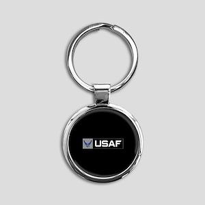 Logo USAF Round Keychain