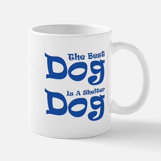 Dark Blue Shelter Design Mug